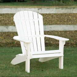 Fifthroom - Poly Lumber Adirondack Chair - Any human in the late afternoon has a natural state of repose: enjoying the sun in a comfortable position.  Our Poly Lumber Adirondack chair keeps the rest of the natural world in tact by using completely recycled materials, and keeps your back in complete comfort by being� well� a perfect chair.