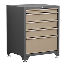 Newage Products - NewAge Products Pro Series Taupe Tool Drawer Cabinet - Our Pro Series Tool Drawers are the ideal tool storage and protection solution. Steel inner walls provide added strength and durability while fully lockable doors offer the peace of mind that your gear stays safe.