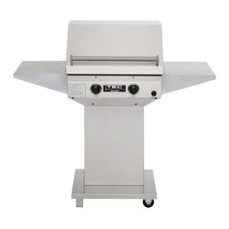 "TEC - TEC Sterling II FR 52"" Grill on Pedestal with Two Side Shelves 