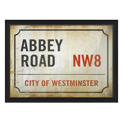 The Artwork Factory - 'Abbey Road Sign' Print - Whether you're a Beatles fan, an Anglophile or both, put the sentiment on display. Flaunt how you feel about your breed. This museum quality print on high resolution, acid-free paper makes such a stylish statement in your decor.