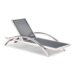 Zuo Modern - Zuo Modern Metropolitan Lounger in Brushed Aluminum [Set of 2] - Lounger in Brushed Aluminum belongs to Metropolitan Collection by Zuo Modern Lounger (2)