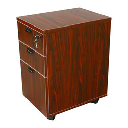 Boss Chairs - Boss Chairs Boss Mobile Pedestal Box/File in Honey & Mahogany - Mobile pedestal. Fits under desk. Stocked in a honeycomb carton which makes it drop shippable.
