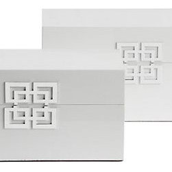 Ming Boxes, White - White lacquer boxes are so simple and so elegant.