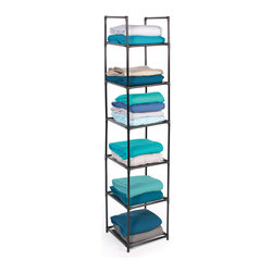 Richards Homewares - Richards Homewares 3-shelf Stackable Racks (Set of 2) - Take control of your time and space with help from Richards Homewares. This set of two tower racks are ideal for storing folded garments or supplies.