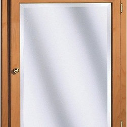 "Coastal Collection - Salerno Series 24"" x 32"" Maple Lighted Medicine Cabinet in Cider Finish - Features: -Lighted medicine cabinet. -Salerno Series collection. -Cider finish. -Solid maple doors. -Can be surface mounted for easy installation. -1"" Beveled mirror. -Door and shroud are built to last. -Maple finished interior. -Custom designed packaging for secure shipment to your home. -Accommodates (3) 60W bulb(not included). -Made in USA. -Overall dimensions: 32"" H x 24"" W x 5"" D."
