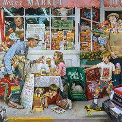 Magic Murals - General Store Brunch with Grandpa Wallpaper Wall Mural - Self-Adhesive - Multipl - General Store Brunch with Grandpa Wall Mural