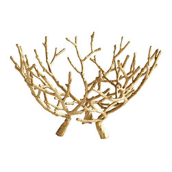 Gilt Branches Sculpture - Use this unique coffee table piece to bring in some golden accents.