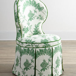 Erlinda Garden Dining Chair - A little on the pricey side but totally worth it, this white and green dining chair has a garden-style flair that perfectly fits in with your home's new theme.