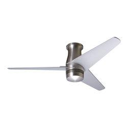 """Modern Fan Company - Modern Fan Company Velo Hugger Bright Nickel 50"""" Ceiling Fan + Wall Control - Features:"""