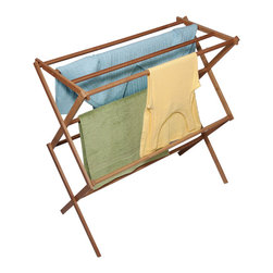 Richards Homewares - Richards Homewares 2-tier Laundry Drying Rack - This versatile clothes drying rack from Richards Homewares features two tiers of six drying rods with a 50-pound weight capacity. Cut back on your energy bills while protecting your clothes from the damaging effects of heated dryers with this handy rack.