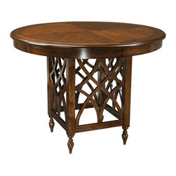 Standard Furniture - Standard Furniture Woodmont Round Counter Height Table in Cherry - Woodmont Features graceful and soft shaping in a clean urban style. Striking lattice accents on chair backs are perfect for today's modern home. Rich design and elegant styling invite a relaxed setting in your home.