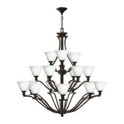 Hinkley Lighting - Hinkley Lighting 4659OB-OPAL Bolla Olde Bronze 8 Light Chandelier - Hinkley Lighting 4659OB-OPAL Bolla Olde Bronze 8 Light Chandelier