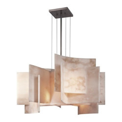 George Kovacs - George Kovacs 5-Light Chandelier - With its intriguing form and unique composition, this chandelier makes a great first impression. Use it in the foyer or even over a table to add a dramatic focal point.