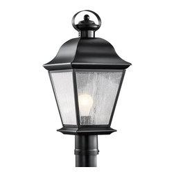 Kichler Lighting - Kichler Lighting 9909BK Mount Vernon Painted Black Outdoor Post Light - Kichler Lighting 9909 Mount Vernon Outdoor Post Light