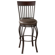 Transitional Bar Stools And Counter Stools American Heritage Torrance 26 Inch Counter Stool in Pepper