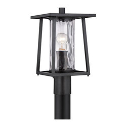 Quoizel Lighting - Quoizel LDG9009K Lodge 1 Light Post Lights & Accessories, Mystic Black - Outdoor post mystic blck