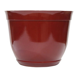 Alpine Fountains - Small 10 in. Bowl Planter in Red - Made of Plastic. 1 Year Limited Warranty. Assembly Required. Overall Dimensions: 10 in. L x 10 in. W x 8 in. H (0.77 lbs)These bowl planters are perfect for patios and decks.  Available in a variety of sizes and colors they can meet any need, or taste and are very durable.