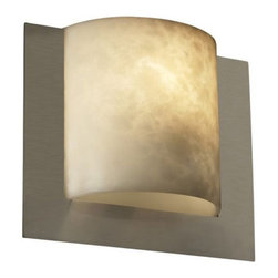 Justice Design Group LLC - Justice Design Group CLD-5560 - Framed Square 3-Sided Wall Sconce (ADA) - Brushe - Shop for Wall Mounted Lighting and Sconces from Hayneedle.com! About Justice DesignEndless inimitable lighting that's what Justice Design deals in. More than 200 different shapes. More than 35 different finishes. That's a huge amount of customization -- right at your fingertips. Speaking of fingertips each fixture is painstakingly crafted by skilled artisans by hand. Whether you're looking for indoor or outdoor lighting residential or commercial Justice Design is sure to have just the right fixture to match your needs and personality.