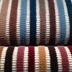 Showroom Products - Missoni stripe wool carpet in fabulous colors. Great for wall to wall installation or as area rugs of any size. Introduced at Surfaces 2013 in Las Vegas.