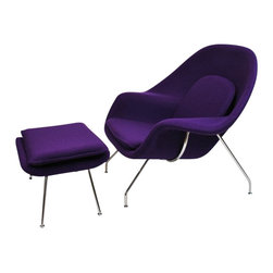 Fine Mod Imports - Woom Wool Chair and Ottoman - Features: