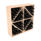 Wine Racks America - Solid Diamond Wine Storage Bin in Pine, (Unstained) - This solid wooden wine cube is a perfect alternative to column-style racking kits. Holding 8 cases of wine bottles, you can double your storage capacity with back-to-back units without requiring more access area. This rack is built to last. That is guaranteed.