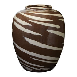 Lazy Susan - Lazy Susan Caramel Tiger Churn X-770758 - Made from ceramicHandcraftedHand applied finish, weather resistant