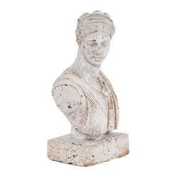 Old World Ceramic Female Bust