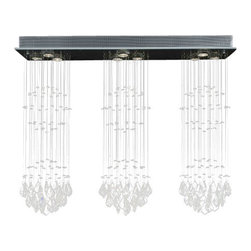 """The Gallery - Modern Chandelier """"Rain Drop"""" Crystal Chandeliers Lighting! H31"""" W39"""" L.10"""" - 100% CRYSTAL CHANDELIER. A excellent crystal fixture for your foyer, dining room, living room and more! This fixture features beautiful 100% Crystals Balls that capture and reflect the light. Truly a stunning chandelier, this chandelier is sure to lend a special atmosphere anywhere it is placed.Assembly Required Collection: G902 Modern Collection"""