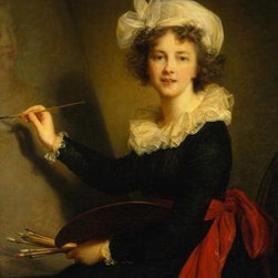 Wallmonkeys Wall Decals - Fine Art Murals Self-portrait by Elisabeth Louise Vigee-lebrun  - 24 Inches H - Easy to apply - simply peel and stick!