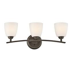 "Kichler - Kichler 45360OZ Granby 24.91"" Wide 3-Bulb Bathroom Lighting Fixture - Product Features:"