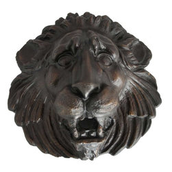 Eron Johnson Antiques - Large Antique Reproduction Bronze Lion Fountainhead - This piece is a faithful reproduction of the 18th century original, a contemporary casting we commission for our clientele who often find such period pieces impossible to find.