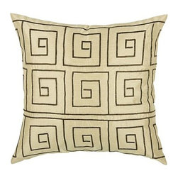 Rizzy Home - Cream and Brown Decorative Accent Pillows (Set of 2) - T03505 - Set of 2 Pillows.