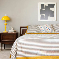 eclectic  Grey bedroom