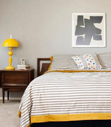 Eclectic  Grey bedroom