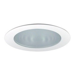 "Nora Lighting - Nora NTS-4226 4"" Frosted Flat Lens with Cone Reflector, Nts-4226w - 4"" Frosted Flat Lens with Cone Reflector"