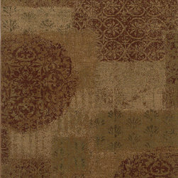 """Karastan - Karastan Carmel 74700-13136 (Pine Hill Red) 2'11"""" x 4'8"""" Rug - Floral motifs, sophisticated graphic patterns and modern damasks take center stage in the Carmel collection. Styled for today's relaxed living these fashion inspired patterns feature color palettes that are decorator friendly and offer the consumer an easy decorating choice."""