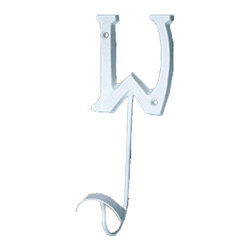Renovators Supply - Hooks Wrought Iron Hook White Decorative Letter W - Letter Hooks: Crafted of wrought iron, these hooks add a personal touch for each member of the family, to entryways, bedrooms or baths. Each hook includes hardware for mounting.