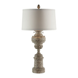 "Aidan Gray - Aidan Gray Light House Lamp Set of 2 1770L - The Light House Lamp gives it all away in its name. Created to hold two bulbs, this cast resin hand painted lamp is great for adding extra warmth to your room. Using the pull chain to illuminate your space is only part of this 35"" tall lamp's charm. Added detail in the carvings is accented by the hand finish."
