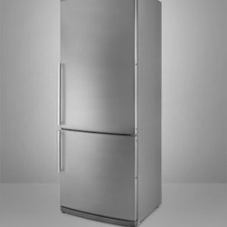 """Summit - FFBF285SS 28"""" 13.8 cu. ft. Capacity Bottom-Mount Refrigerator  Adjustable Thermo - The Summit FFBF285IM 1381 Cu Ft bottom freezer refrigerator conserves energy and space but adds quality and function with full features convenient sizes and ENERGY STAR approved operation Created in Europe the FFBF285SS has a large bottom frost-free ..."""