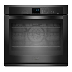 """Whirlpool - Gold WOS92EC0AB 30"""" 5.0 cu. ft. Single Wall Oven with SteamClean Option  AccuBak - This Whirlpool 30 in electric wall oven with TimeSavor Ultra True Convection in stainless steel is loaded with features Thanks to the FIT system this wall oven can fit seamlessly into your current cabinet cutout with minimal modification The AccuBake..."""