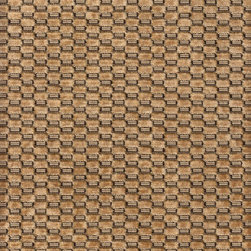 Pollack - Pollack Checkered Velvet in Dark Honey - 2.375 Yards - Yardage: 2.375 Yards