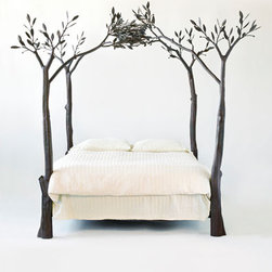 Tree Bed - Just look at this. You feel right in nature and can pretty much go with any decorations. I love this bed.