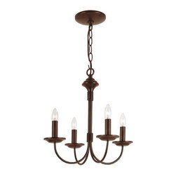 Trans Globe Lighting - Trans Globe Lighting 9014 ROB Chandelier In Rubbed Oil Bronze - PART NUMBER: 9014 ROB