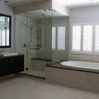 Frameless Shower Doors, Frameless Glass Enclosures - frameless shower door, corner shower enclosure