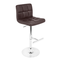 "Lumisource - Lager Bar Stool, Brown - 19.5"" L x 18"" W x 37 - 45"""