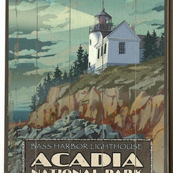 Home Decorators Collection - Acadia National Park Wooden Sign - Located in Maine, Acadia National Park was created in 1919. This sign captures the rugged beauty of that New England coast. Made from the highest quality wood, this sign is ready to hang and comes complete with hangers. Perfect for any room. Intended for indoor use. Buy one for yourself or as a gift. Made of wood construction. Weight: 8 pounds.