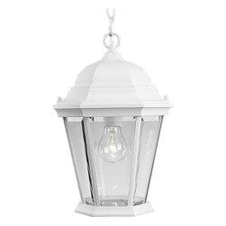 Progress Lighting - Progress Lighting P5582-30 1-Light Hanging Lantern with Clear Beveled Glass - Progress Lighting P5582-30 1-Light Hanging Lantern with Clear Beveled Glass Panels