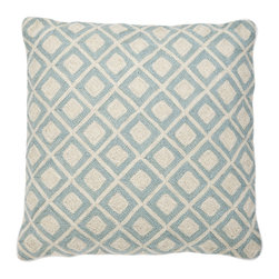 Eichholtz Oroa - Pillow Licorice, Blue - 100% cotton backing - 100% wool embroidery