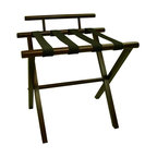 Proman Products - Proman Products Luggage Rack in Walnut - Walnut luggage rack with backing,