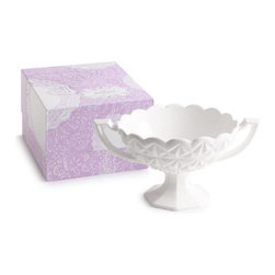 Rosanna - Les Bon Bons Compote with handles By Rosanna - Got a sweet tooth. Add something special to the presentation of candies, small cookies, pastries, or beautiful chocolates with these classic pedestals. Dessert should always be a special occasion, even if it's only for you.